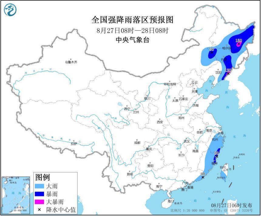 暴雨黄色预警:黑龙江、辽宁等地有大暴雨 注意防范