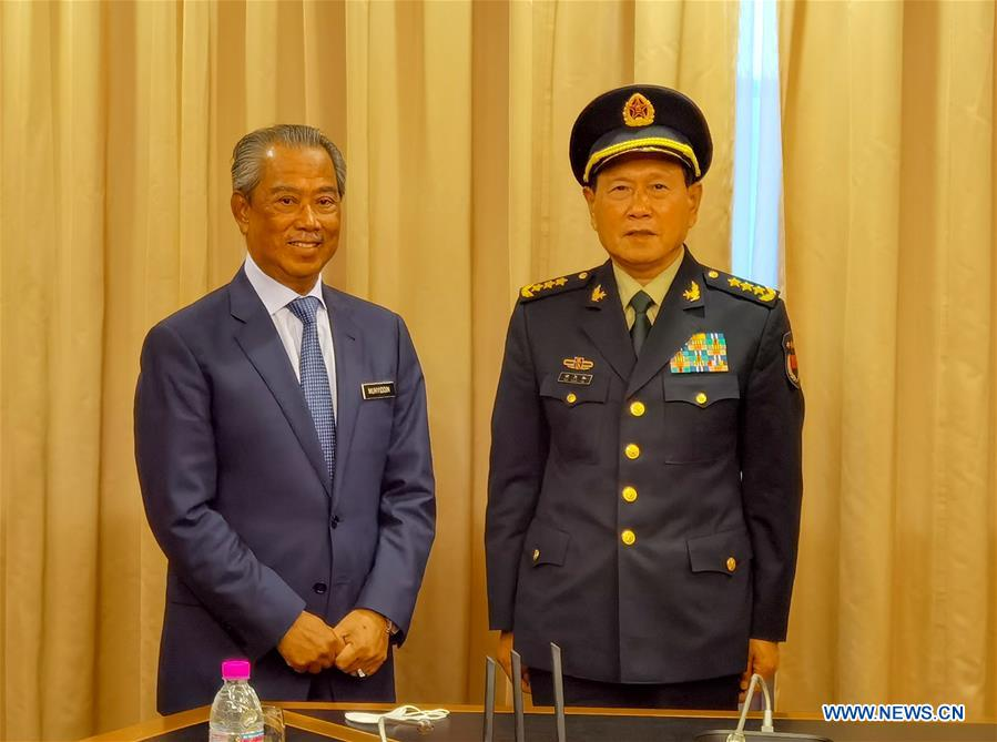 Malaysian PM meets Chinese defense minister on bilateral cooperation