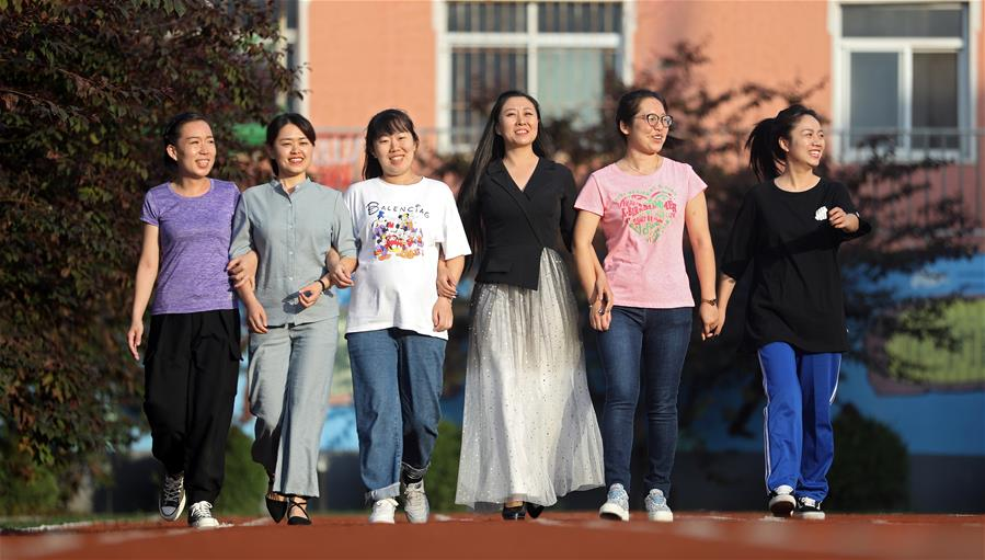Young special education teachers dedicated to taking care of students