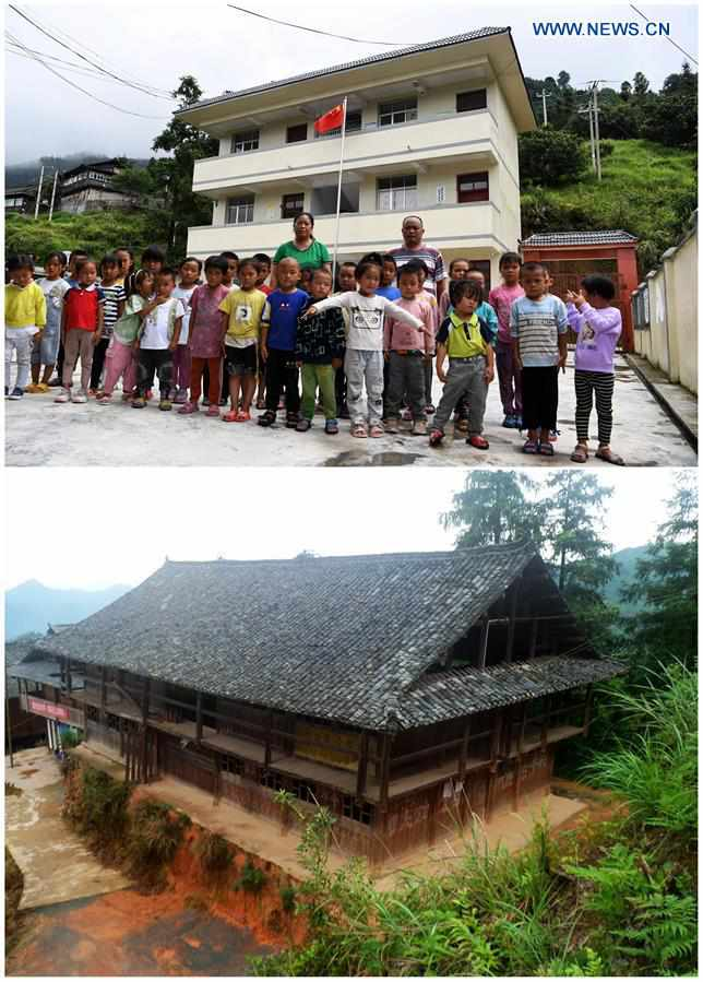 Pic story: Teacher couple dedicated to rural education in SW China's Guizhou
