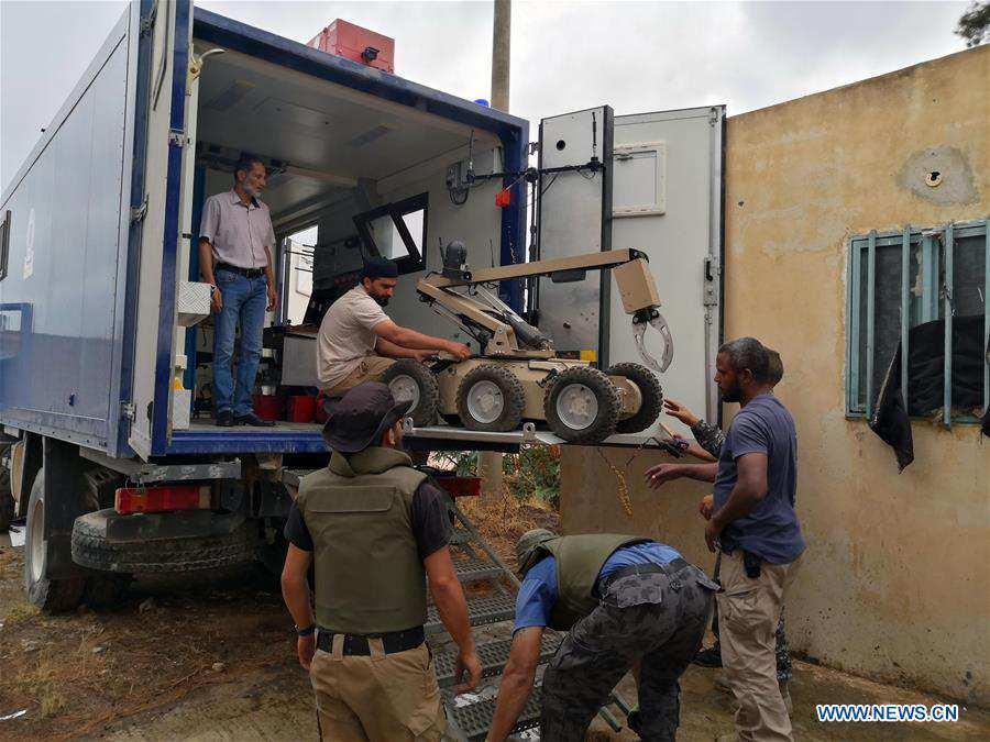 LIBYA-TRIPOLI-EXPLOSIVE DISPOSAL-ROBOT