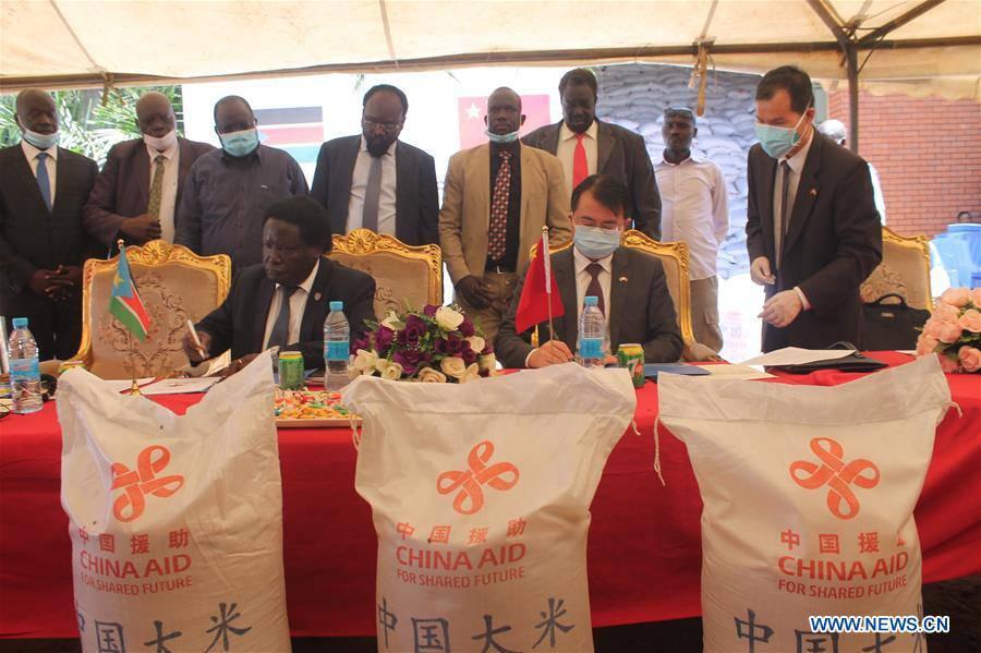 China donates 3,000 tons of rice to South Sudan