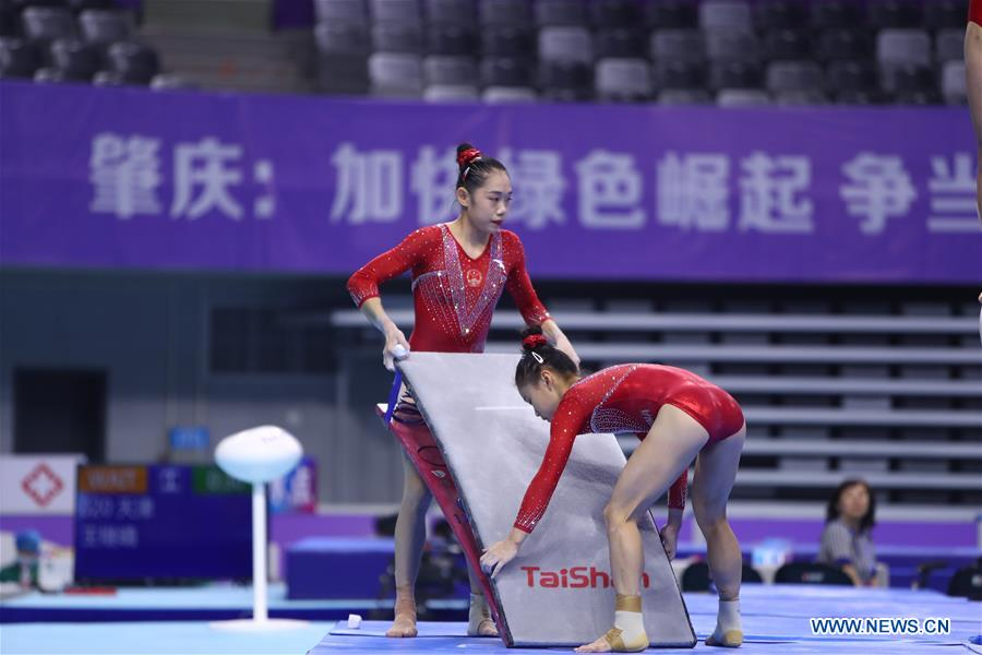 In pics: training session ahead of 2020 Chinese National Gymnastics Championships