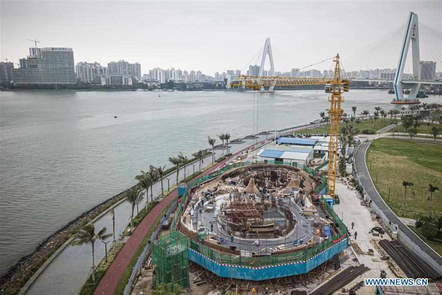 In pics: construction site of Wormhole Library in Haikou Bay