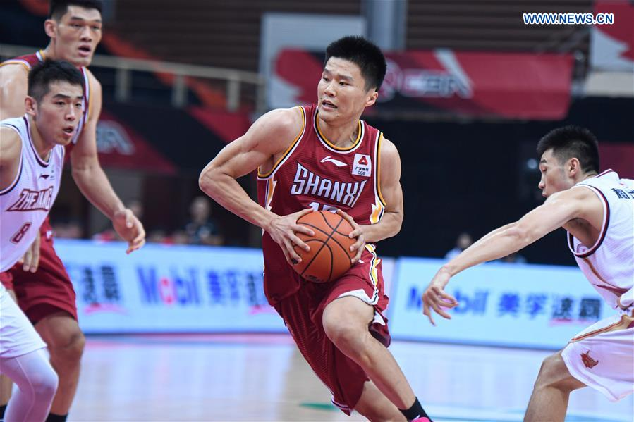 (SP)CHINA-ZHEJIANG-ZHUJI-BASKETBALL-CBA LEAGUE-ZHEJIANG VS SHANXI (CN)