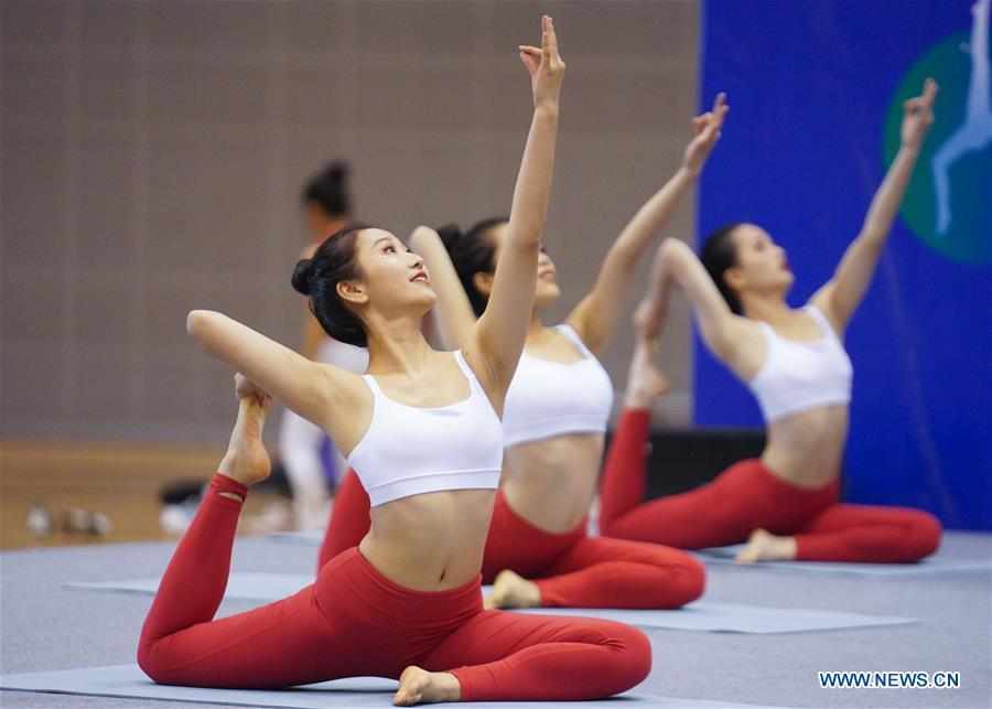 (SP)CHINA-JIANGXI-NANCHANG-FITNESS GAMES-YOGA (CN)