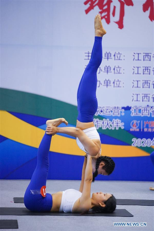(SP)CHINA-JIANGXI-NANCHANG-FITNESS GAMES-YOGA (CN)