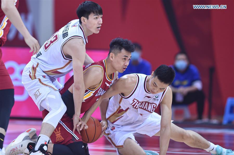 (SP)CHINA-ZHEJIANG-ZHUJI-BASKETBALL-CBA LEAGUE-ZHEJIANG VS SHANXI (CN)