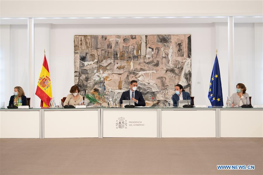 SPAIN-MADRID-COVID-19-STATE OF ALARM-PM-MEETING