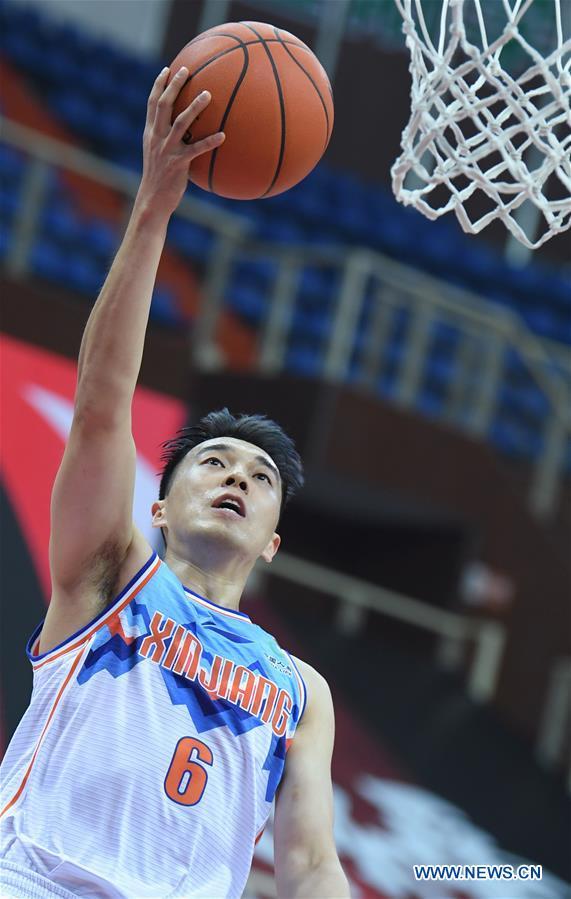 (SP)CHINA-ZHEJIANG-ZHUJI-BASKETBALL-CBA LEAGUE-XINJIANG VS NANJING (CN)