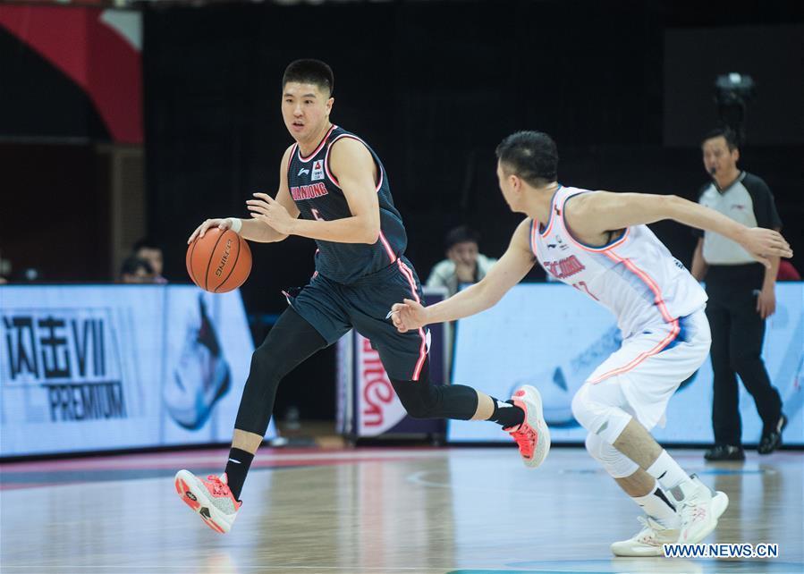 (SP)CHINA-ZHUJI-BASKETBALL-CBA LEAGUE-GUANGDONG VS SICHUAN (CN)