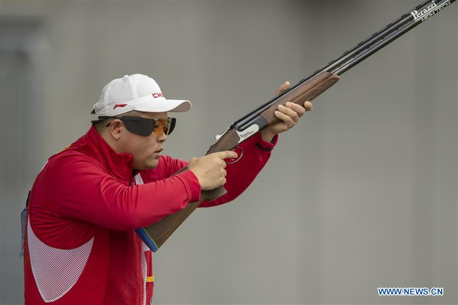 (SP)CHINA-SHANXI-LINFEN-SHOOTING-CHINESE NATIONAL CHAMPIONSHIPS-MEN'S TRAP QUALIFICATION (CN)
