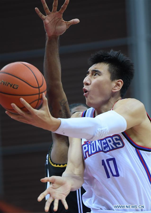 (SP)CHINA-ZHUJI-BASKETBALL-CBA LEAGUE-TIANJIN VS LIAONING (CN)
