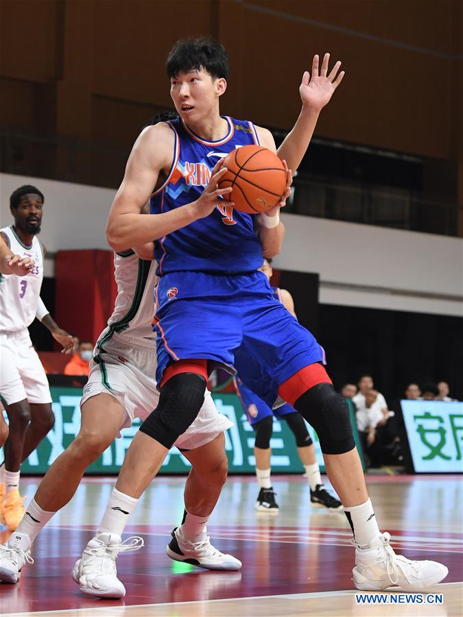 (SP)CHINA-ZHUJI-BASKETBALL-CBA LEAGUE-XINJIANG VS SHANDONG(CN)