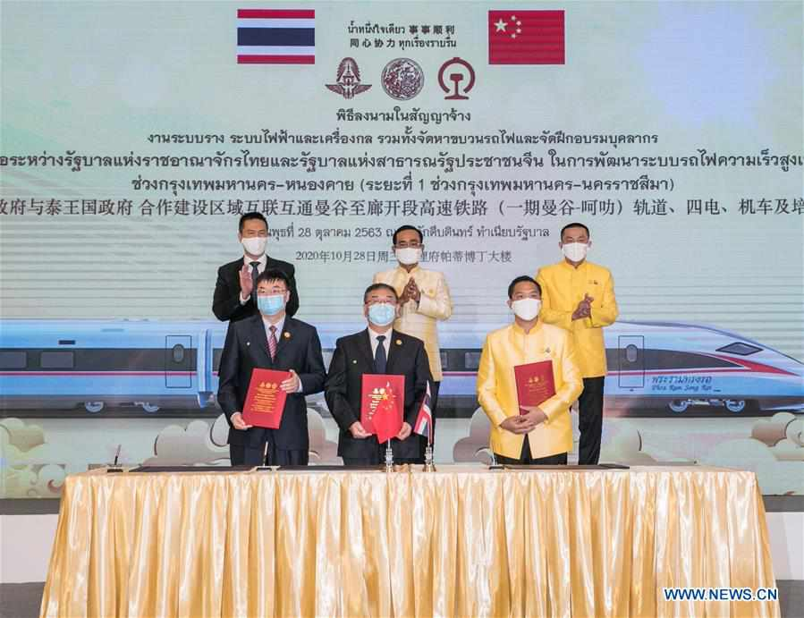 THAILAND-BANGKOK-THAI-CHINESE HIGH-SPEED TRAIN-KEY CONTRACT-SIGNING