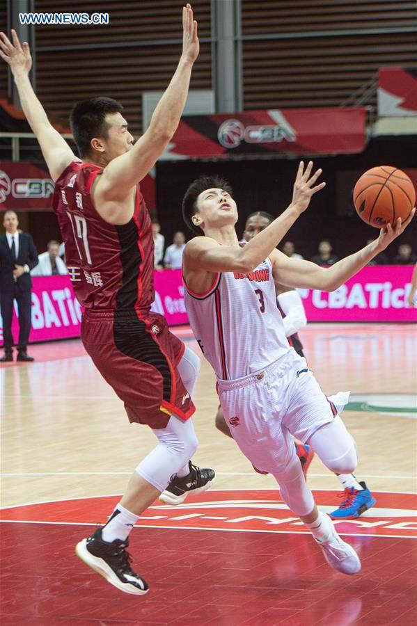 (SP)CHINA-ZHUJI-BASKETBALL-CBA LEAGUE-BEIJING DUCKS VS GUANGDONG SOUTHERN TIGERS (CN)