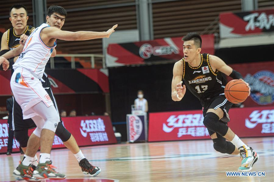 (SP)CHINA-ZHUJI-BASKETBALL-CBA LEAGUE-XINJIANG FLYING TIGERS VS LIAONING FLYING LEOPARDS (CN)