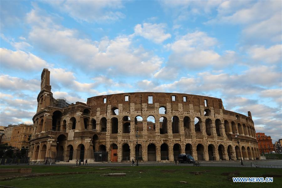 ITALY-ROME-COVID-19-CURFEW-COLOSSEUM
