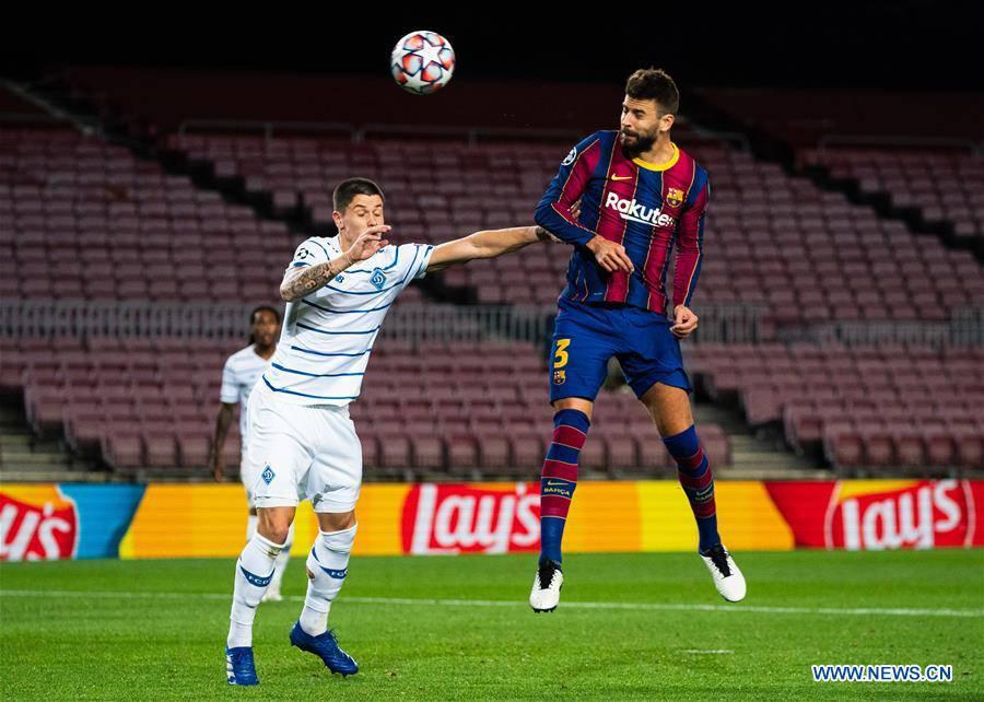 (SP)SPAIN-BARCELONA-FOOTBALL-UEFA CHAMPIONS LEAGUE-FC BARCELONA VS DYNAMO KYIV