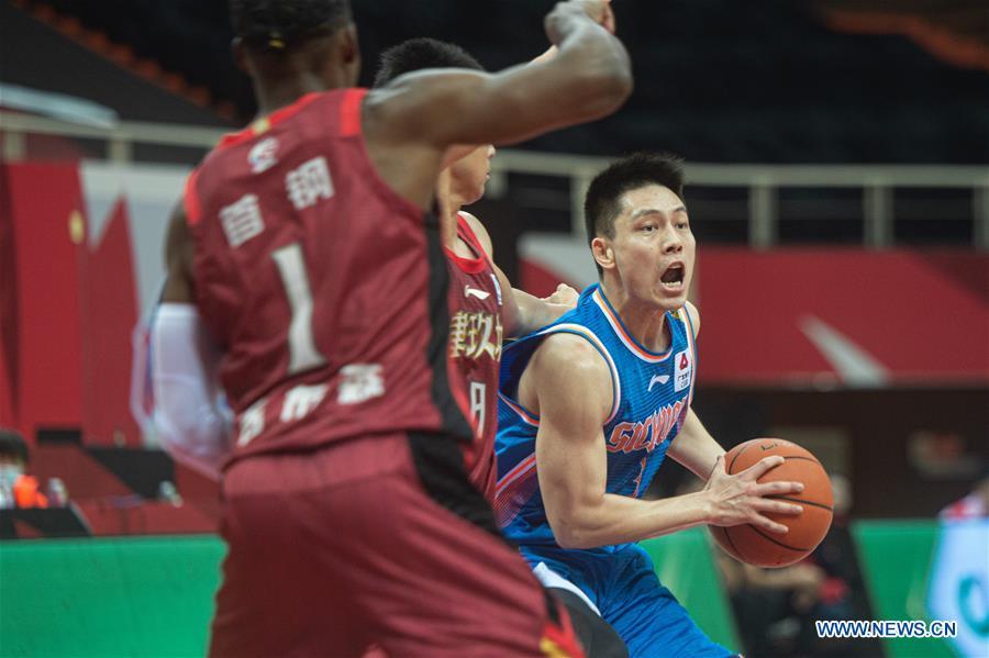 (SP)CHINA-ZHUJI-BASKETBALL-CBA LEAGUE-BEIJING DUCKS VS SICHUAN(CN)