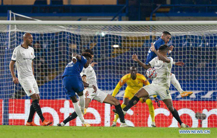 (SP) BRITAIN-LONDON-FOOTBALL-UEFA CHAMPIONS LEAGUE-CHELSEA VS RENNES