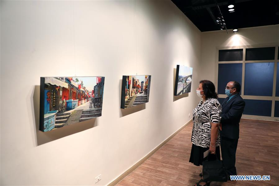 EGYPT-CAIRO-PAINTING EXHIBITION-BEAUTY OF CHINA