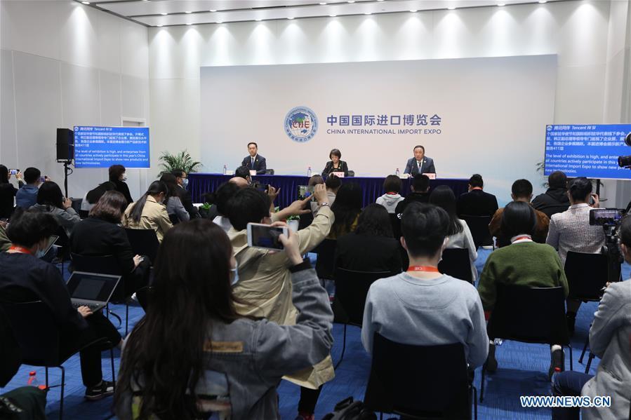 CHINA-SHANGHAI-CIIE-CLOSING-NEWS BRIEFING (CN)