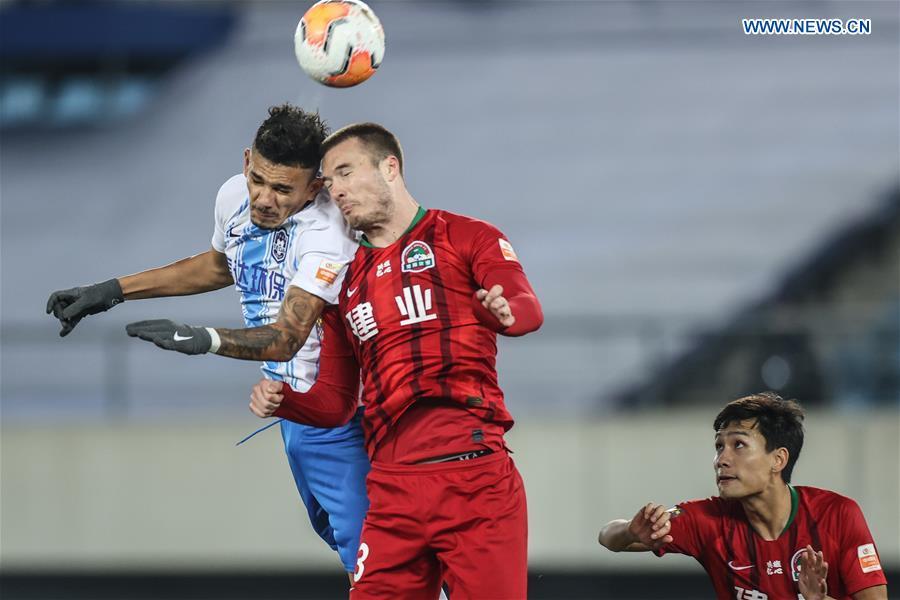 (SP)CHINA-LIAONING-DALIAN-FOOTBALL-CSL-TIANJIN VS HENAN(CN)