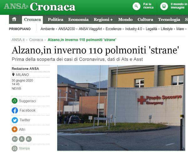欧洲头条丨《肿瘤杂志》发表研究结果:意大利去年9月份可能就存在新冠病毒