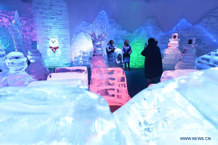 Tourists visit Frost Magical Ice of Siam in Chon Buri Province, Thailand