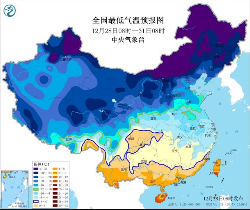 寒潮橙色预警发布!西北东北华北等地预计降温12~16℃