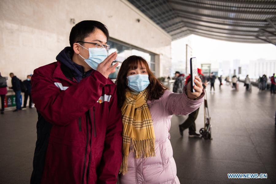 Medical team from Hunan leaves for Shijiazhuang to help fight against epidemic