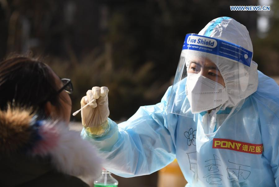 Second round of nucleic acid testing begins in Shijiazhuang's communities