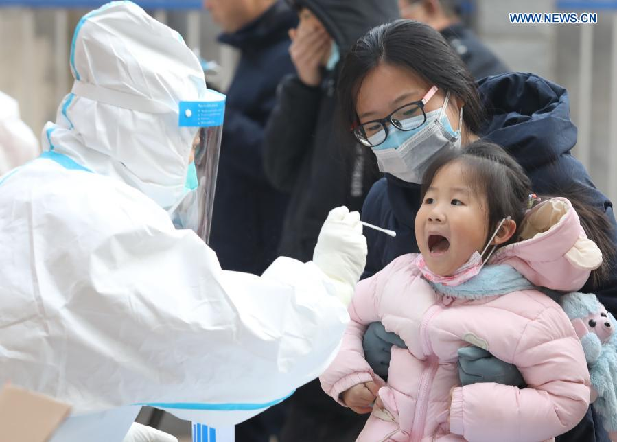 Shijiazhuang starts 2nd round of nucleic acid tests for all residents