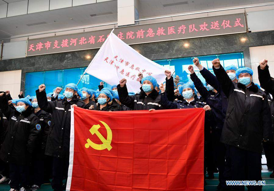 Second medical team from Tianjin leaves for Hebei to aid epidemic prevention and control