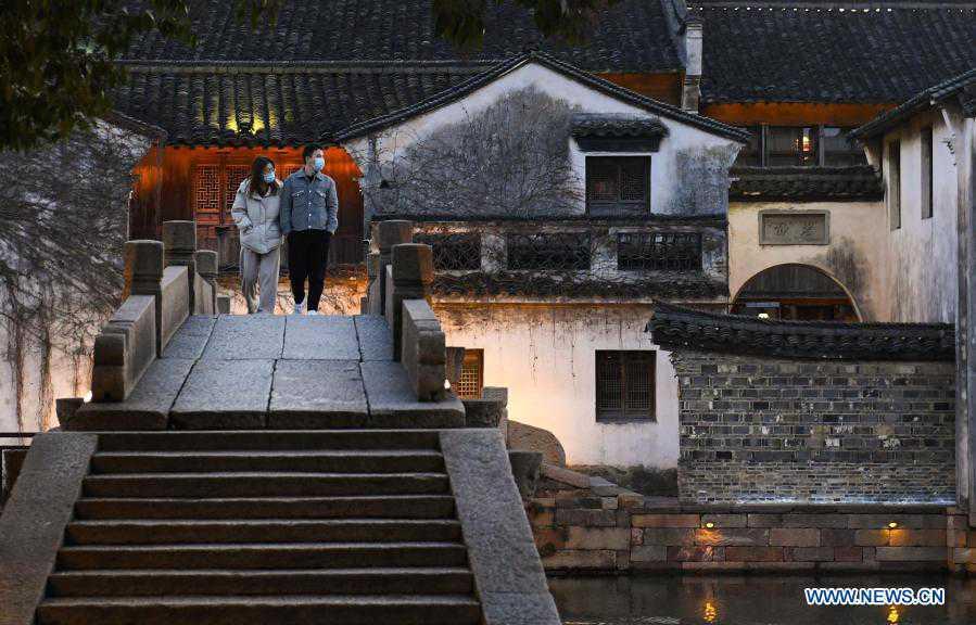 Daily life in Wuzhen, east China's Zhejiang