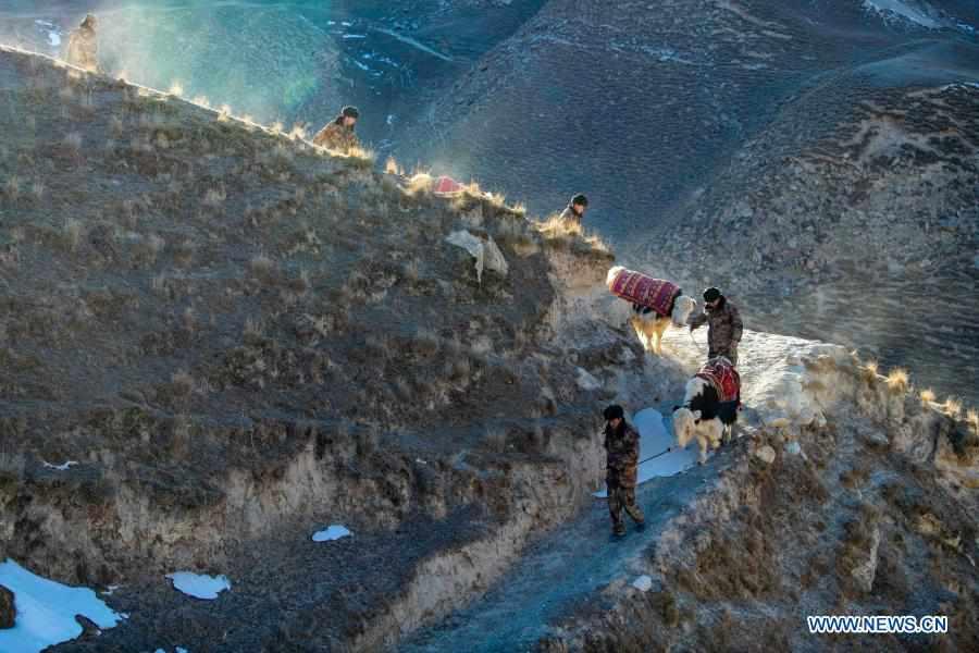 People patrol border with yaks in China's Xinjiang