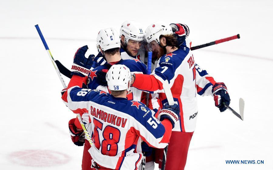 KHL ice hockey match: Dinamo Riga vs. CSKA Moscow
