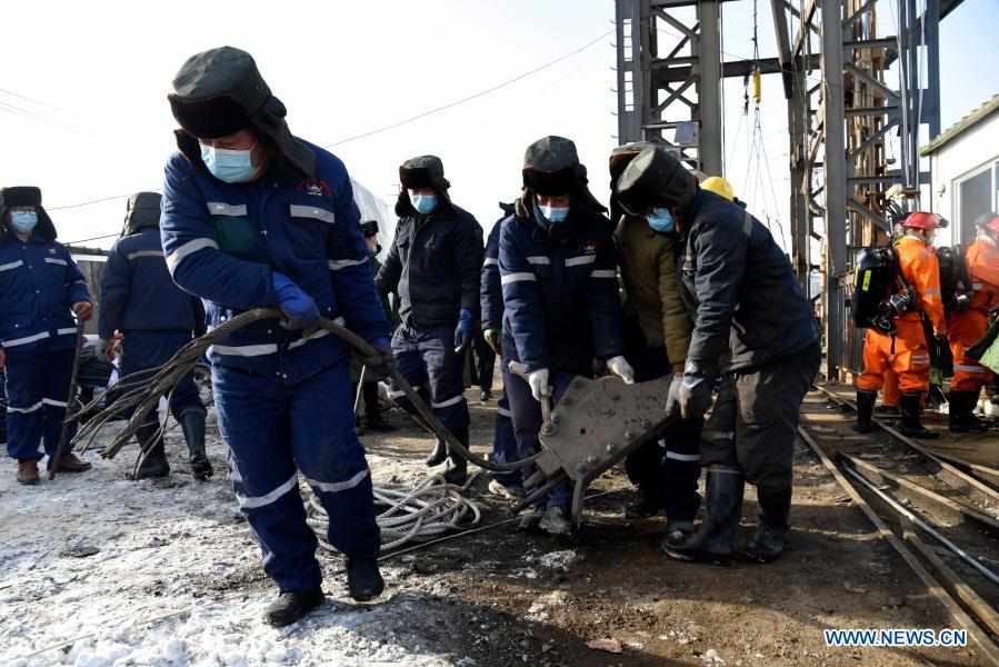 Rescue underway after gold mine blast traps 22 in east China