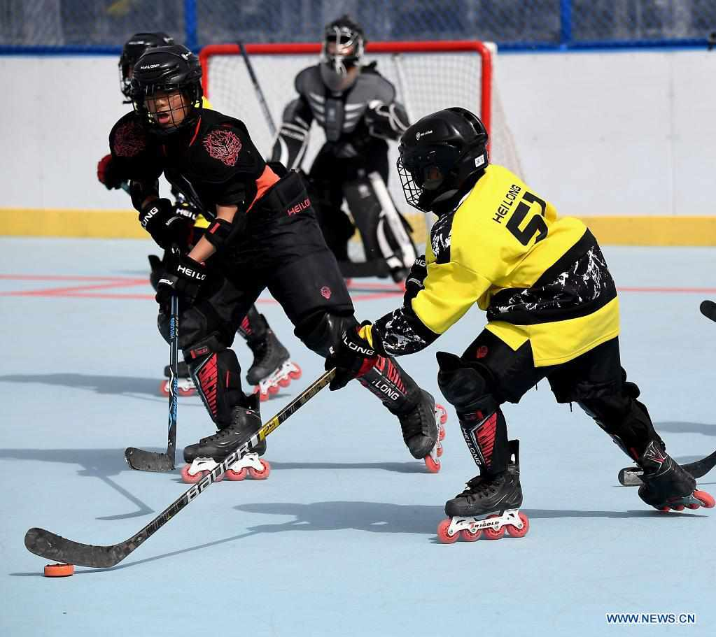 China's martial arts school builds ice hockey team