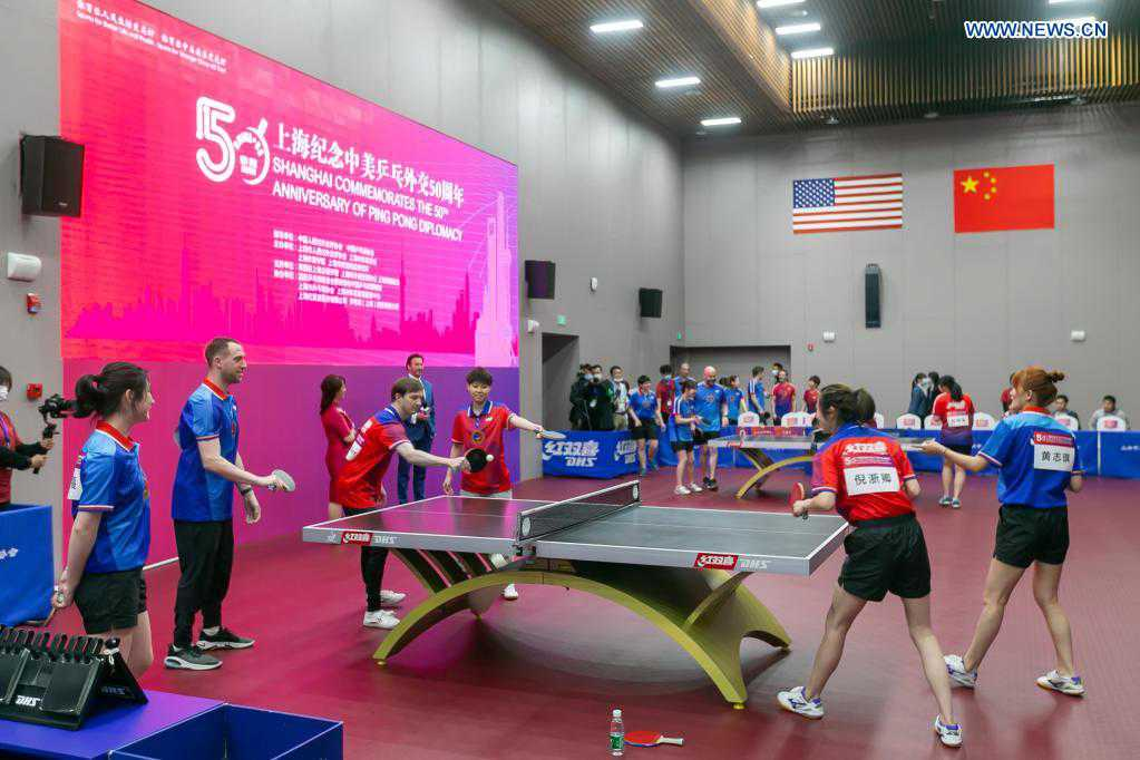 China commemorates 50th anniversary of Ping-Pong Diplomacy