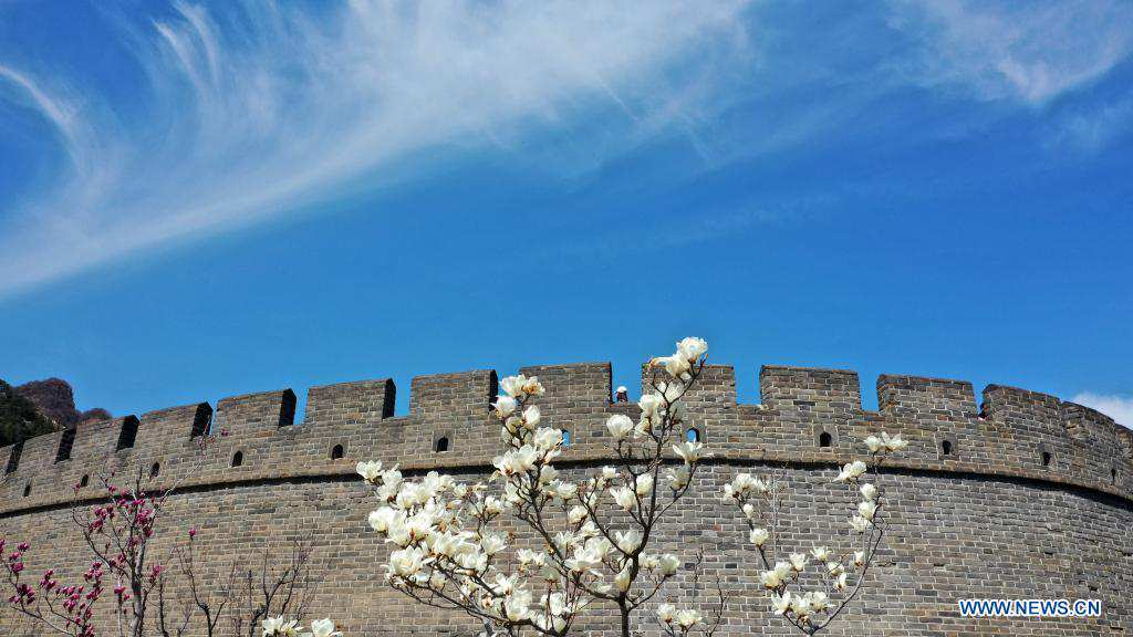 Scenery of Great Wall at Huangya Pass in Tianjin