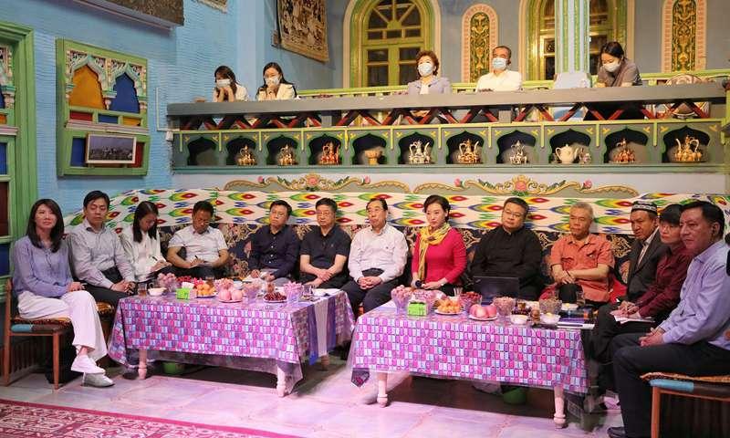 China Public Diplomacy Association held an online forum on Xinjiang topics in Kashi Prefecture of Xinjiang Uygur Autonomous Region on Thursday. Photo: Wang Xiaoji