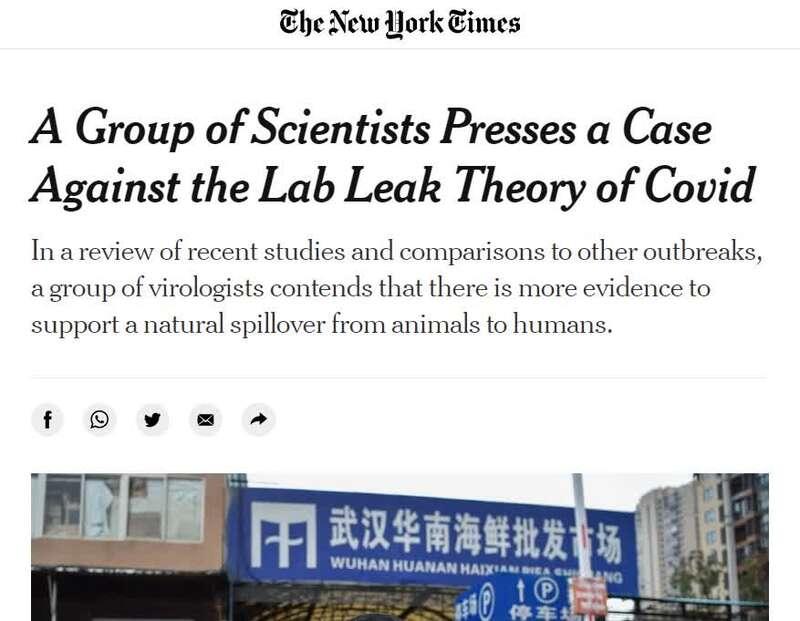 """21位西方科学家联名辩驳新冠病毒""""尝试室泄露论"""""""