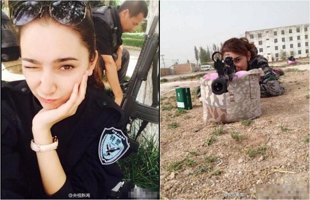 新疆反恐前线美女特警照片走红网络--图片频道
