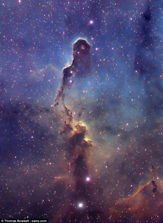 绝美宇宙!天文爱好者拍摄星图宛如女神降临