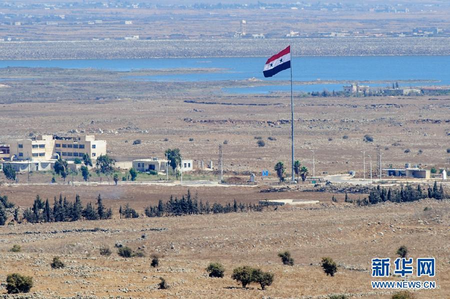 这是位于戈兰高地的叙利亚南部城市库奈特拉(8月28日摄)。
