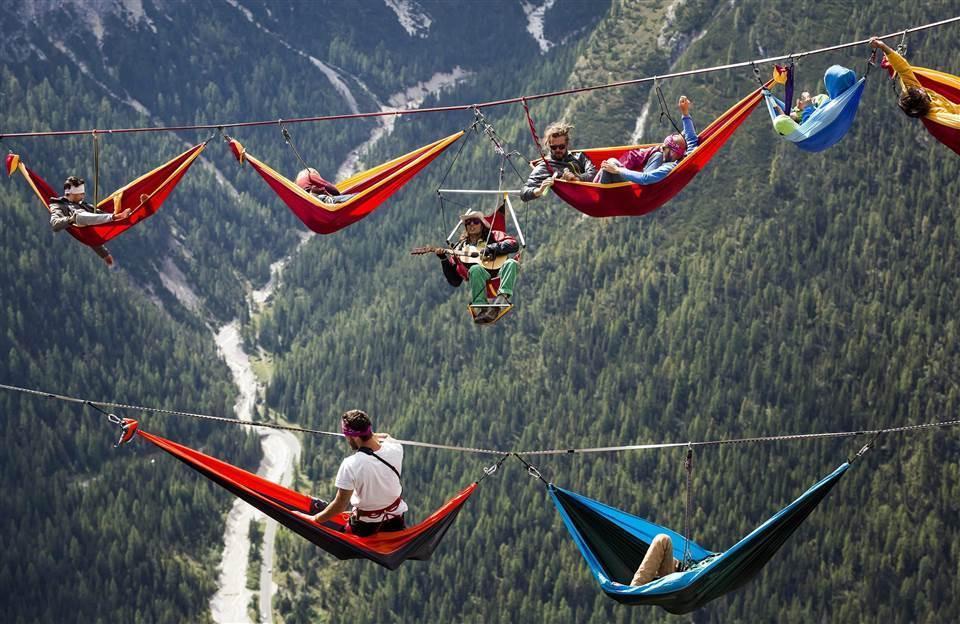 极限运动爱好者千米高空吊床 - ypztwk - ypztwk原创风格