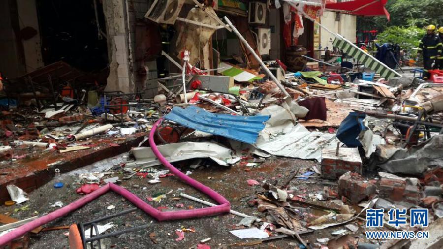 9月19日拍摄的厦门福园公寓爆炸现场(手机拍摄)。