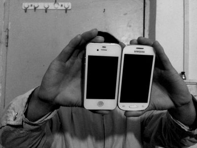 两部手机都是曹某送给小颖以方便联系用的。京华时报记者施志军摄